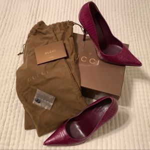 Gucci heels with Bamboo in size 8